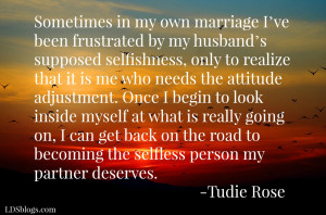 Marriage means selflessness