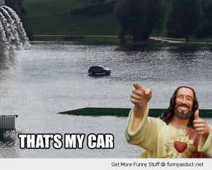 walk drive water jesus car funny pics pictures pic picture image photo ...