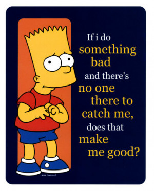 The Simpsons - Bart Poster Card