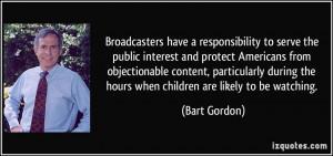 More Bart Gordon Quotes