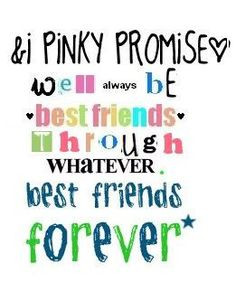 besties quotes | pinky promise quotes | pinky promise quotes - group ...