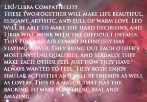 Leo And Libra Compatibility Chart