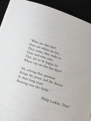 Days by Philip Larkin I adore this picture of the frenzied doctor and ...