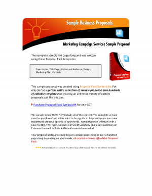 Marketing and Advertising Proposal Samples by unp56200