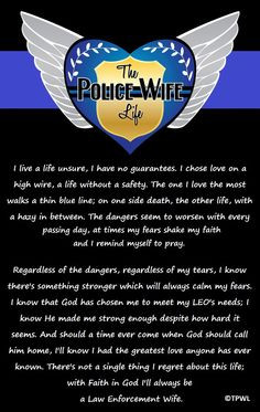 My Heart for An Officer Law Enforcement Poem Card for Police