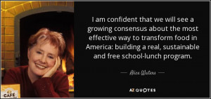 ... food in America: building a real, sustainable and free school-lunch