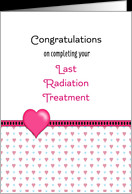 Last Radiation Greeting Card-Congratulations-Hearts card - Product ...