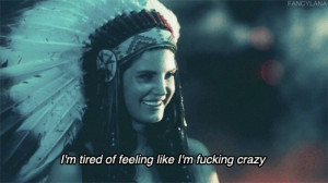 crazy, feeling, im, lana del rey, quote, tired