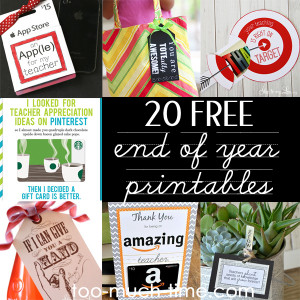 20 Free Printables for your teacher -end of year- teacher appreciation ...