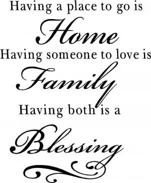 Family Blessing Wall Quote Decal