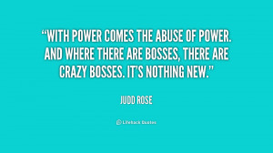 With Power The Abuse And...