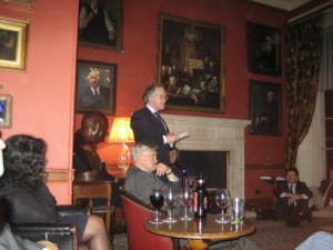 Nigel Rees enthralling all at the Arts Club
