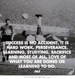 Success is no accident. It is hard work, perseverance, learning ...
