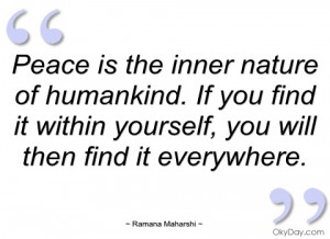 Peace Nature Quotes Peace Is The Inner Nature Of