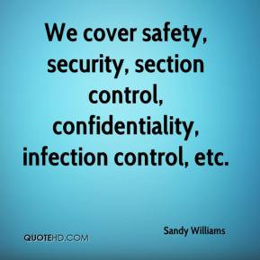 infection control and safety measures