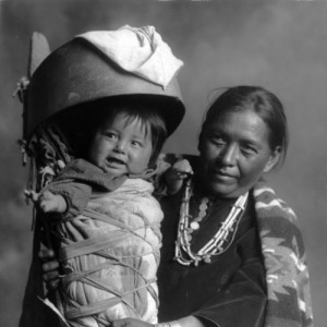 Navajo mother and baby in cradleboard. William M. Pennington [created ...