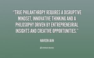 True philanthropy requires a disruptive mindset, innovative thinking ...