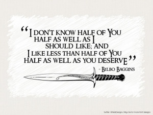 One of my favorite Lord of the Rings quotes :P