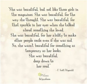 quote, she was beautiful