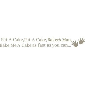 WallPops Pat a Cake Nursery Rhyme Wall Quote