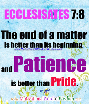 bible quotes about being patient