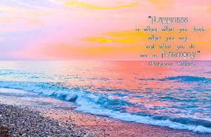 Happiness Harmony Mahatma...