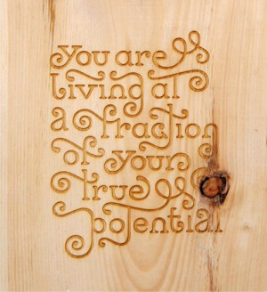 Quote on wood