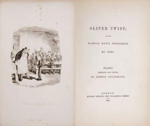 Original Oliver Twist book art.