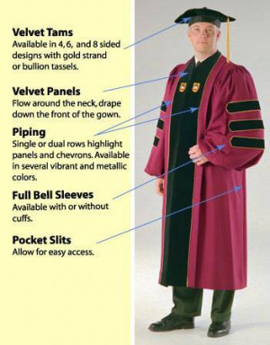 To fully customize your doctoral gown,