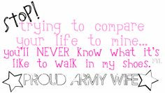 Wife Friendship Quotes | Proud Army Wife Graphics Code | Proud ...