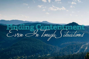 Contentment Comes From Our Convictions, Not Circumstances