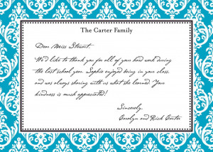 Your Appreciation Is By Sending A Handwritten Note Let Your Child S ...