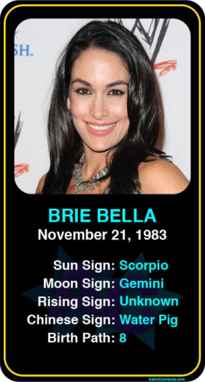 Celeb #Scorpio birthdays: Brie Bella's astrology info! Sign up here to ...