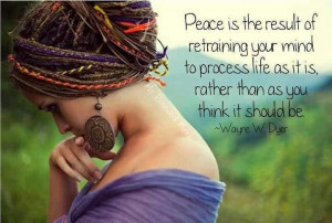 Peace within.