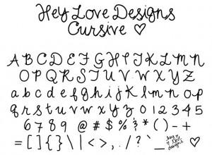 Love You In Cursive Handwriting i love you in cursive