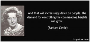 More Barbara Castle Quotes