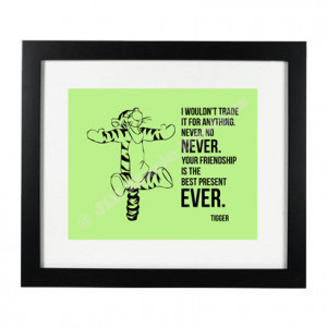 Tigger (Winnie the Pooh) Quote Printable with Optional Custom Color ...