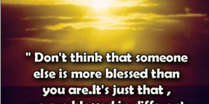 Home > Quotes > Motivational Quote on being blessed