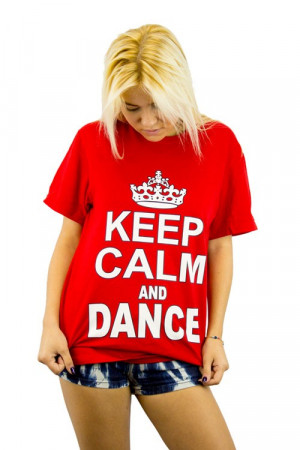 Calm and Dance tshirt, all of out trendy tees are 100% cotton t-shirts ...