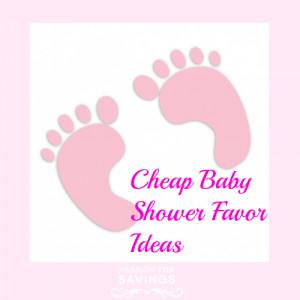 Cheap Baby Shower Favor Ideas