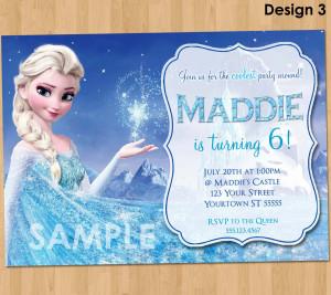 Frozen Birthday Party Ideas Frozen birthday invitation