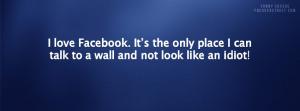 Facebook Talk To A Wall Facebook Cover