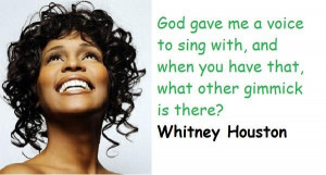Whitney houston famous quotes 5