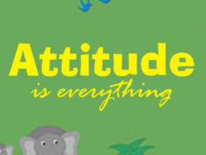Attitude is Everything Quote Decal Sticker Wall bo