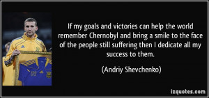 If my goals and victories can help the world remember Chernobyl and ...
