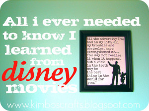 Disney movie quote printables from A Girl and A Gluegun