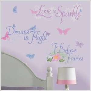 Nursery Decor DISNEY FAIRIES QUOTES Wall Decals 034878034959