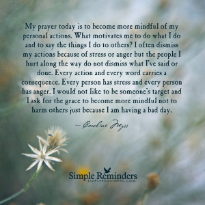 ... to become more mindful by Caroline Myss with article by Sean Patrick