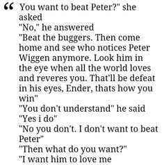 Ender's Game quotes :'( More