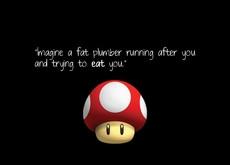 nintendo mario humor funny mushrooms games black background 1440x900 ...